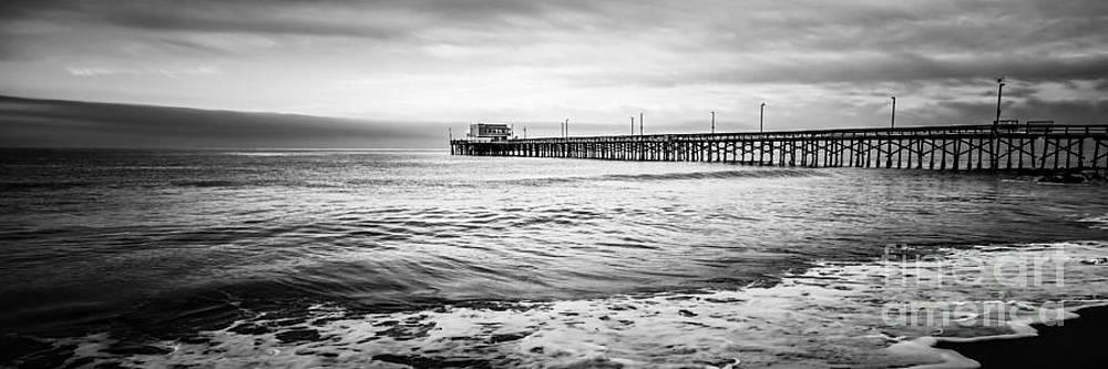 Paul Velgos - Newport Pier Panoramic Photo in Black and White
