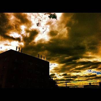 #newyork #backyard #sky #cloud #window by Shawn Who