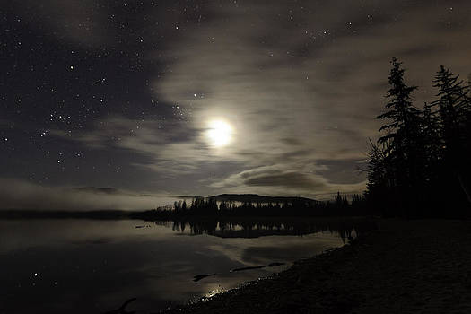 Night at Lakelse Lake by Lisa Hufnagel
