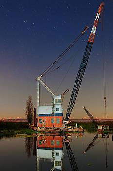 Night Crane by Greg Thelen