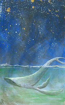 Night Falls - Humpback Whale by Aprille Lipton