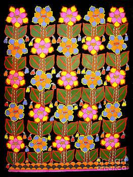 Night Flower-Madhubani Paintings by Neeraj kumar Jha