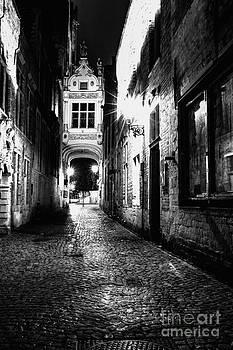 Night lighted ancient street  by Valerii Tkachenko