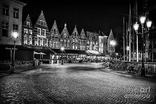 Night lighted Bruges by Valerii Tkachenko