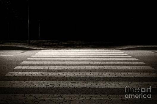 Night lights - pedestrian crossing by Giuseppe Ridino