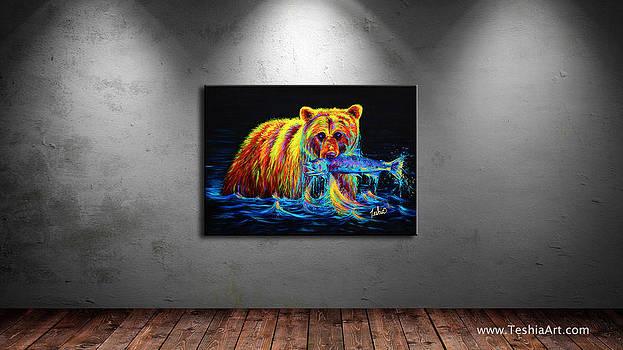 Teshia Art - Night of the Grizzly DISPLAY IMAGE