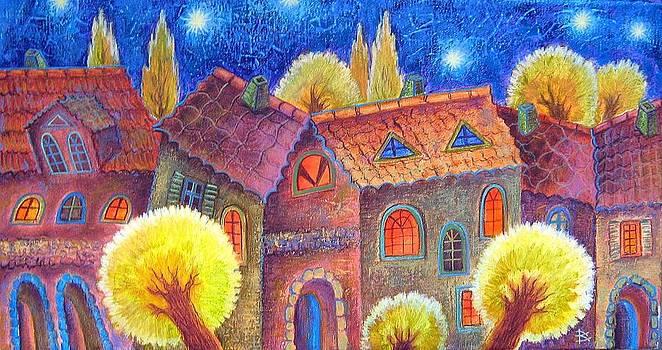 Night town by Raisa Vitanovska