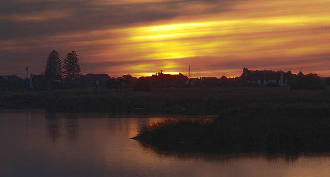 Nightfall at Buena Vista Lagoon by Jan Cipolla