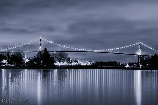 Nightfall Over Lionsgate Bridge by DGS Full Spectrum Photography
