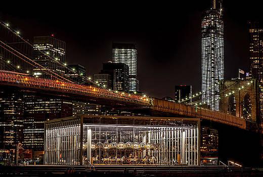 Nighttime In NYC New York by Linda Karlin