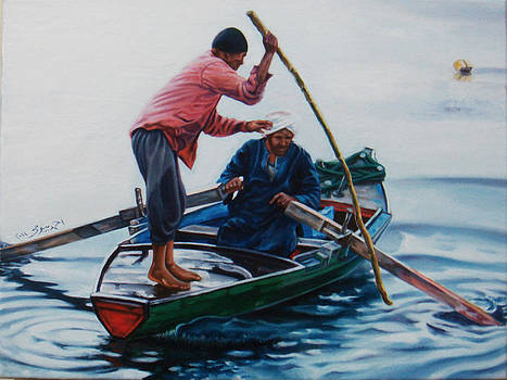 Nile River Fishermen1 by Ahmed Bayomi