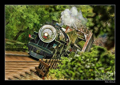 Blake Richards - Niles Canyon Railway At Farwell 1921 Train