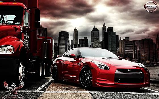 Nissan GT-R - Red Dragon by A.H.K by Abdollah Hamodzadeh