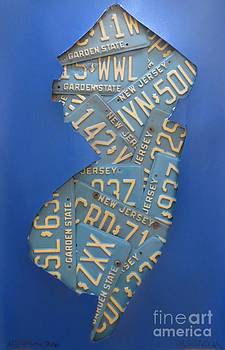 NJ Plate Collage by Sandra Spincola