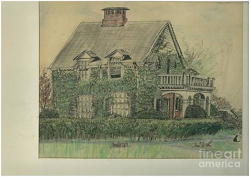 Norberry's house portrait by Valerie VanOrden
