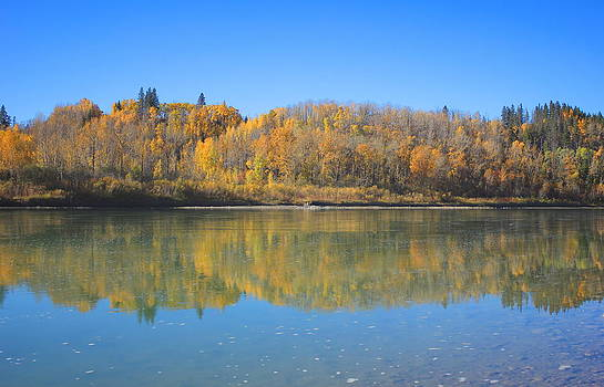 North Saskatchewan River in the fall by Jim Sauchyn