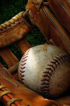 Nostalgic Baseball And Glove by Norman Pogson