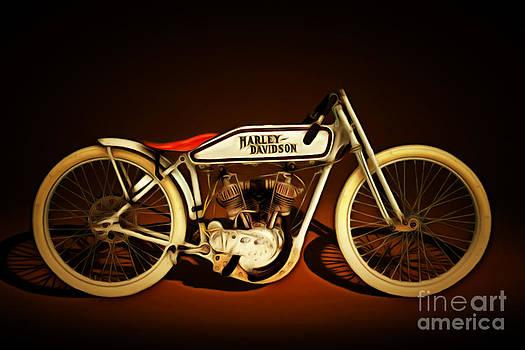 Wingsdomain Art and Photography - Nostalgic Vintage Harley Davidson Motorcycle 20150227