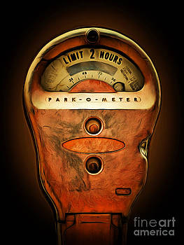 Wingsdomain Art and Photography - Nostalgic Vintage Parking Meter Two Hour Limit 20150225