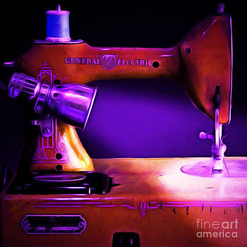 Wingsdomain Art and Photography - Nostalgic Vintage Sewing Machine 20150225m118 square