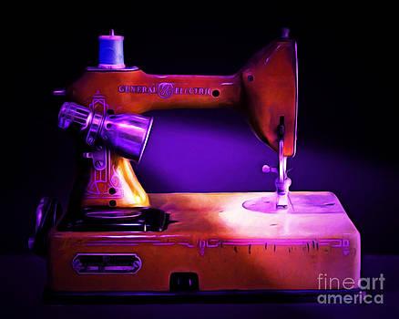 Wingsdomain Art and Photography - Nostalgic Vintage Sewing Machine 20150225m118