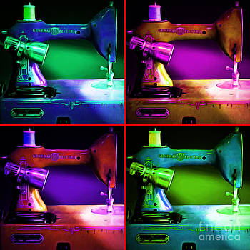 Wingsdomain Art and Photography - Nostalgic Vintage Sewing Machine 20150225p118 four square