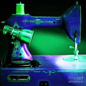 Wingsdomain Art and Photography - Nostalgic Vintage Sewing Machine 20150225p118 square