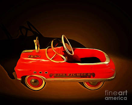 Wingsdomain Art and Photography - Nostalgic Vintage Toy Fire Engine 20150228