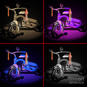 Wingsdomain Art and Photography - Nostalgic Vintage Tricycle 20150225 four square