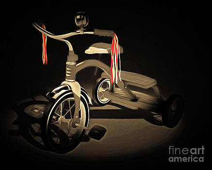 Wingsdomain Art and Photography - Nostalgic Vintage Tricycle 20150225 sepia