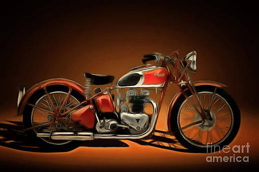 Wingsdomain Art and Photography - Nostalgic Vintage Triumph Motorcycle 20150227