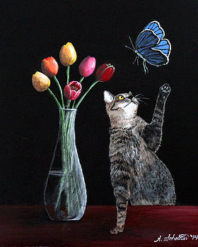 The Tulips the Cat and the Butterfly by Amy Scholten