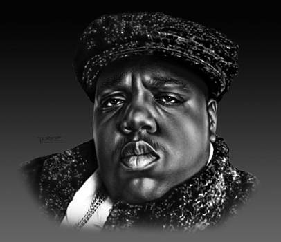 Notorious BIG Portrait by Justo Terez Jr