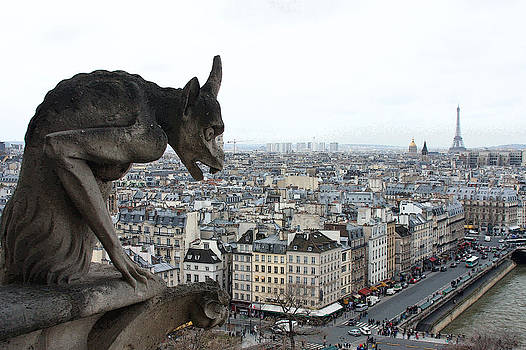 Notre Dame Gargoyle III by Linda Russell