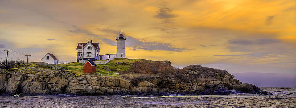 Nubble Lighthouse Maine by Fred J Lord