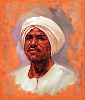Nubian Artist by Ahmed Bayomi