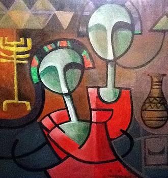 Nubian couple by Kamal Hashim Osman