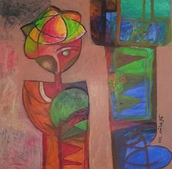 Nubian Singer by Kamal Hashim Osman