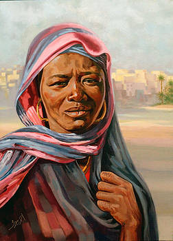 Nubian Woman by Ahmed Bayomi