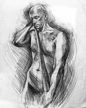 Nude-1 by pencil by Olusha Permiakoff