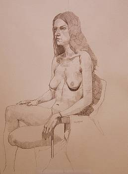 Nude study for Niki by Ray Agius