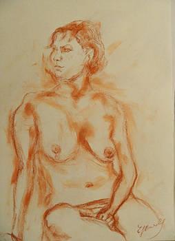 Nude Thoughtful by Elke Hensel