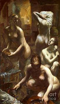 REPRODUCTION - Nudes bathing