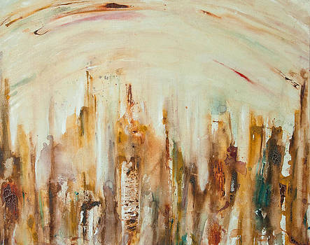 N.Y City Skyline by Justine Tiburzi