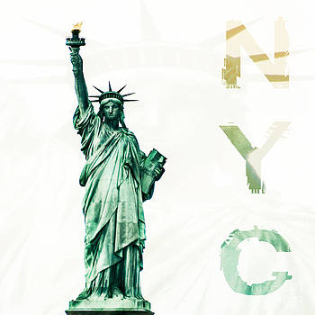 NYC- Lady Liberty by Hannes Cmarits