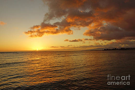 Oahu sunset by Nur Roy