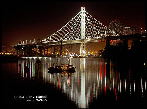 Oakland Bay Bridge at Night by Ducte Le