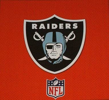 Oakland Raiders by Donna Wilson