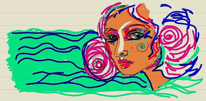 Ocean Girl by Farfallina Art -Gabriela Dinca-