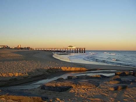 Ocean Grove Fishing Pier Sunset by Anastasia Pleasant